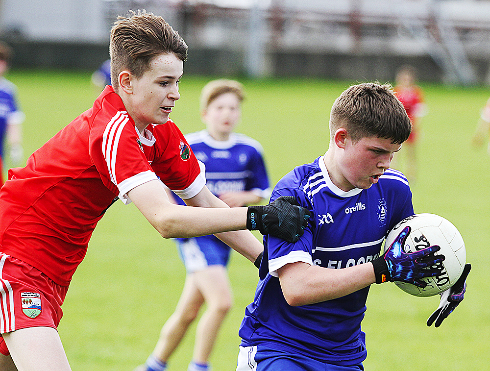 Barnstorming display by Loughinisland U-15 outfit